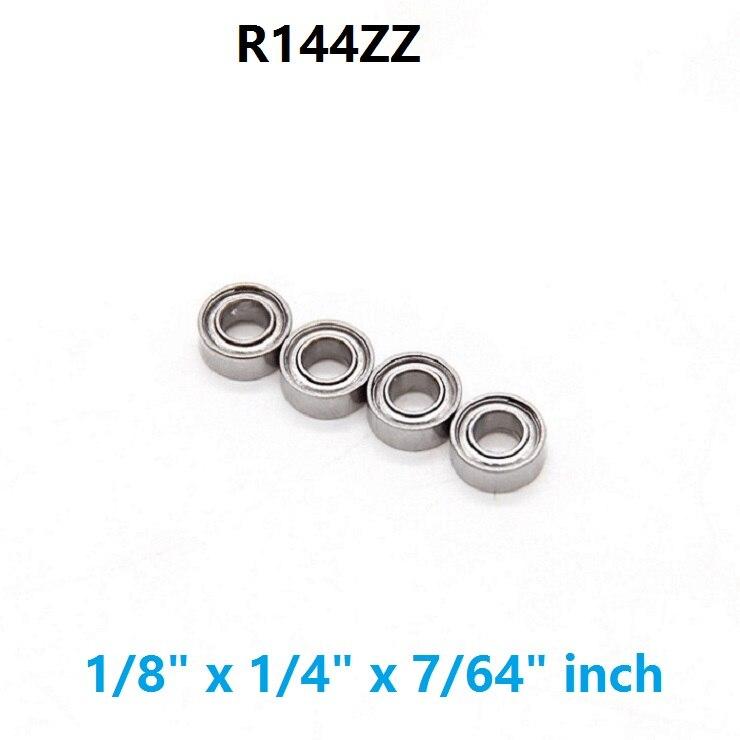 "Metal Shielded Ball Bearing Bearings R144 R144ZZ 20 Pcs 1//8/"" x 1//4/"" x 7//64/"""