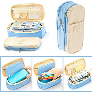 Image 2 - 2019  Storage Organizer Canvas Large Capacity Bag Holder Storage Bags Case Multifunctional Zipper School Portable Pencil Case