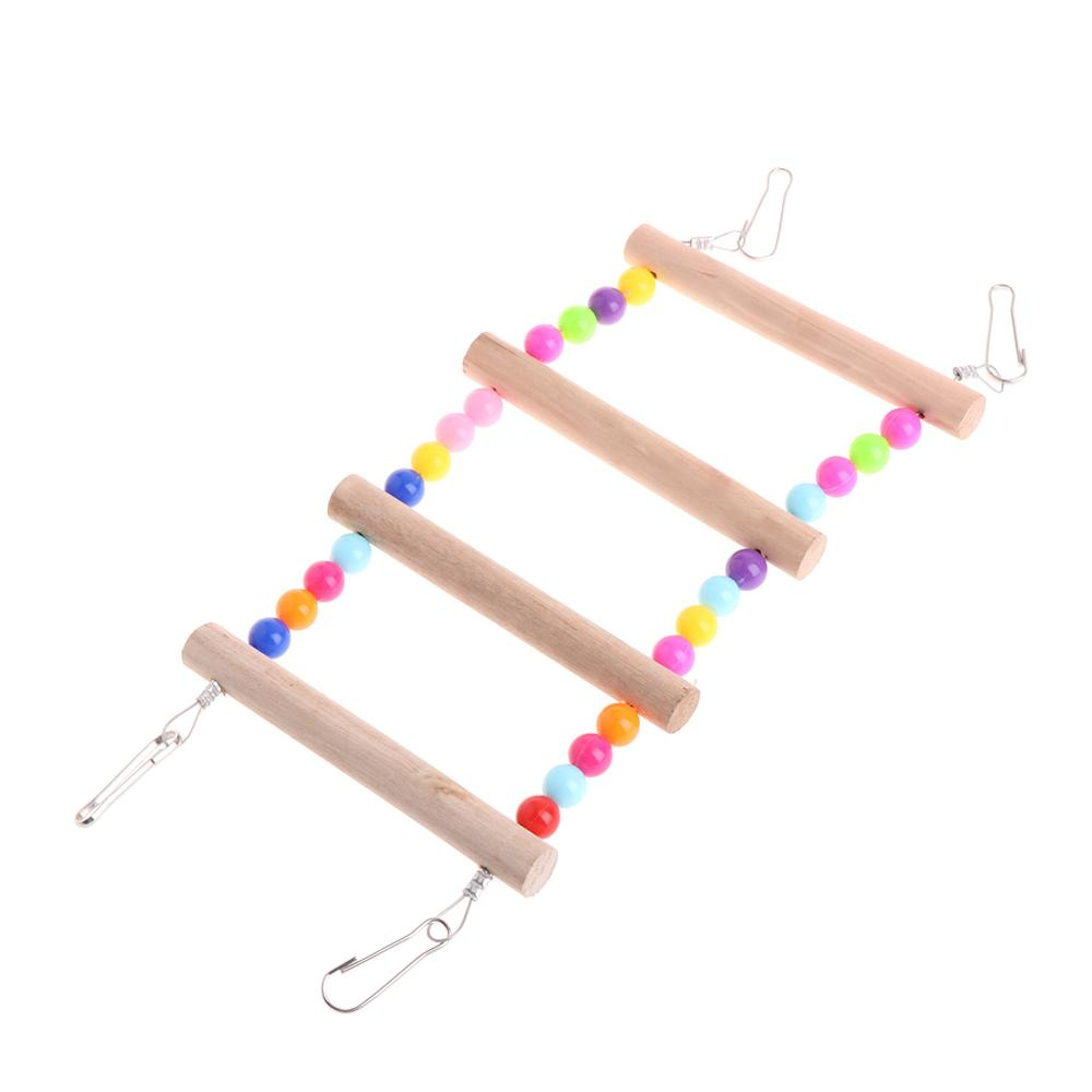 Птицы домашние животные лестницы для попугаев скалолазание Игрушка Висячие красочные шары с натуральным деревом - Цвет: 4 Ladders