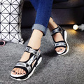2016 Hot Ladies Platform Sandales Sandalias Summer New Fish Head Sandals Women's Slope With Shoes Platform Muffin Zapatos Mujer