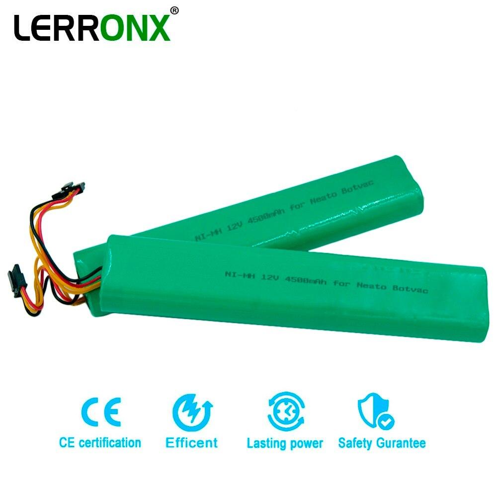 12 v Ni-MH de alta Capacidade 4500 mah Substituição bateria recarregável para Botvac Neato Aspirador 70e 75 80 D75 caSino187 d85