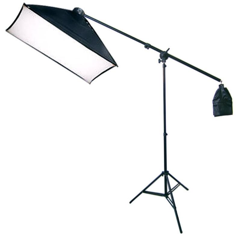 Photography Photo Studio Lighting Kit Softbox Lighting with Photo Bulb Socket & Boom Arm Stand Hair Light Kit