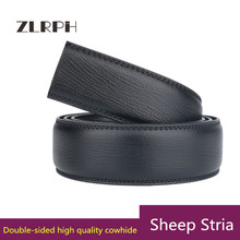 купить ZLRPH New Designer Men's Belts Fashion Genuine Leather Cowskin Belt for Men High Quality Automatic Buckle Male Waist Strap 3.5cm по цене 997.44 рублей