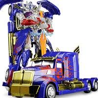 35CM Robot Model Toy Figures Deform Big Truck Plastic Alloy Deformation Robots Assembled Action Toys Boy Kids Gift