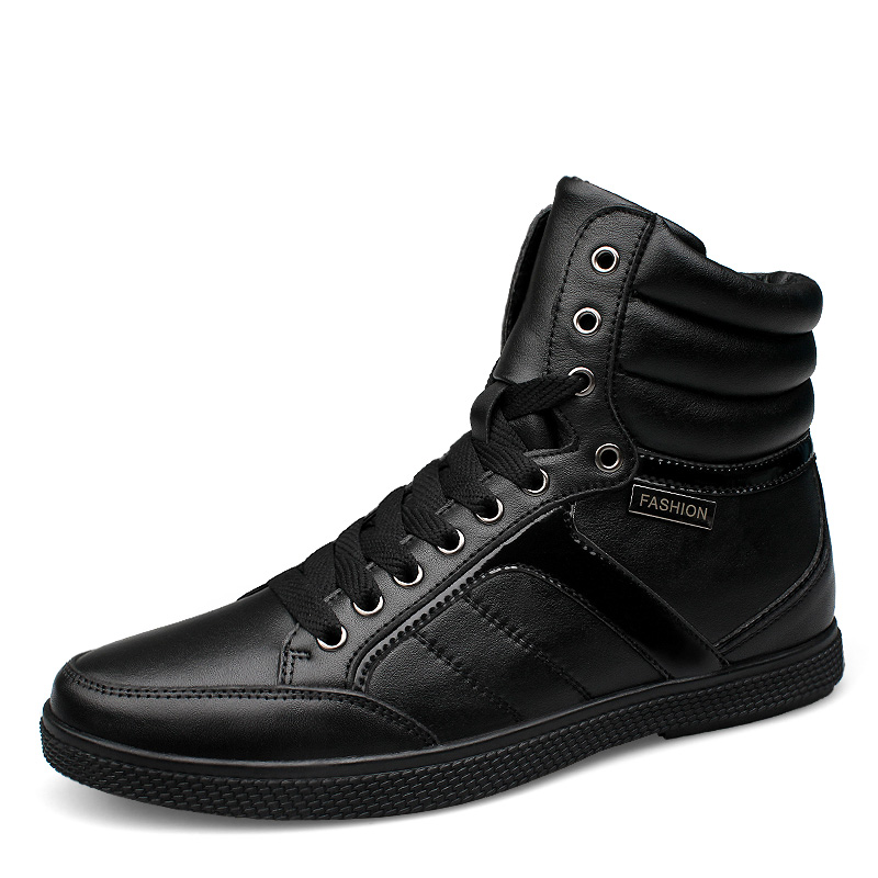 big size genuine leather men boots Winter shoes man ankle boot snow velvet botas fur warm shoe man's lace up work flats martin