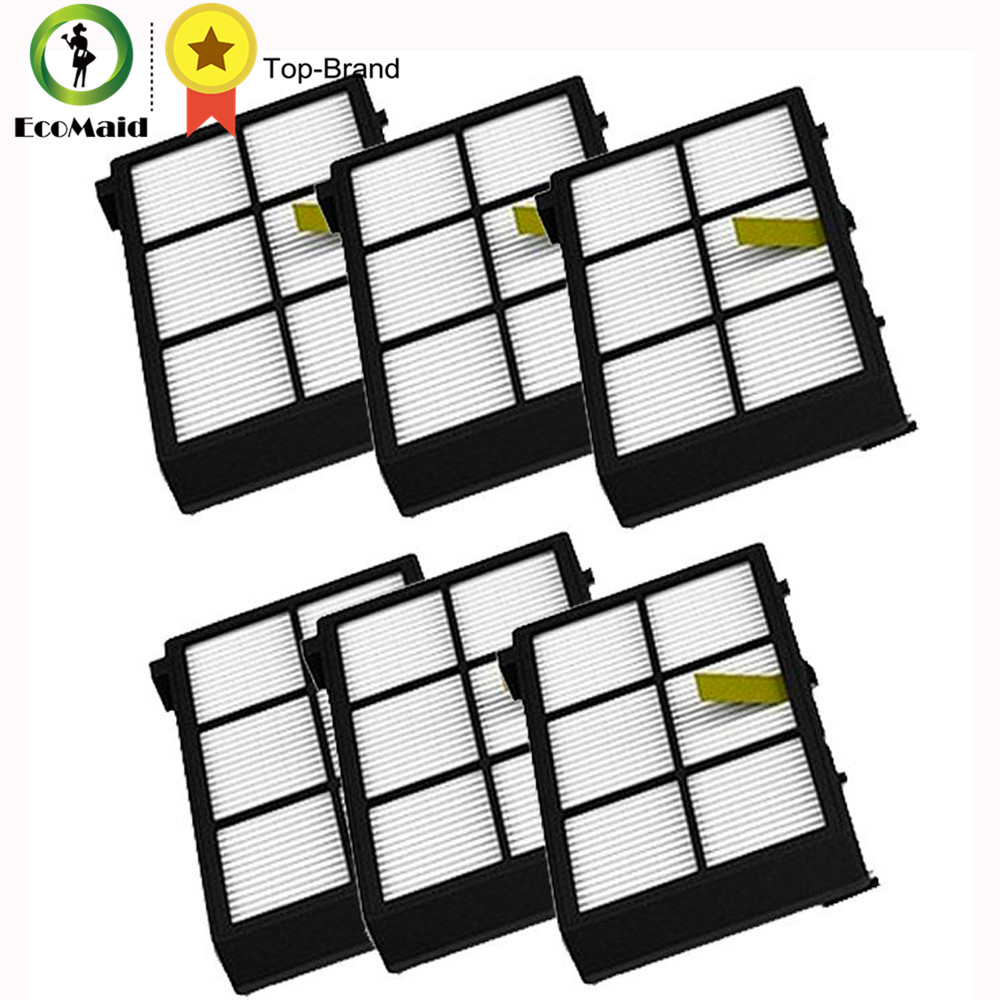 6pcs Hepa Filter Replacement For irobot Roomba 800 & 900 series 870 880 980 Vacuum Cleaners Filters Kits Cleaning Tool ntnt free post 2 x hepa filter filters for irobot roomba 800 series 870 880 new