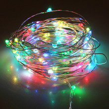 2018 Christmas Fairy LED Lights String  DC 12V 6W Outdoor Warm White Silver Wire Starry