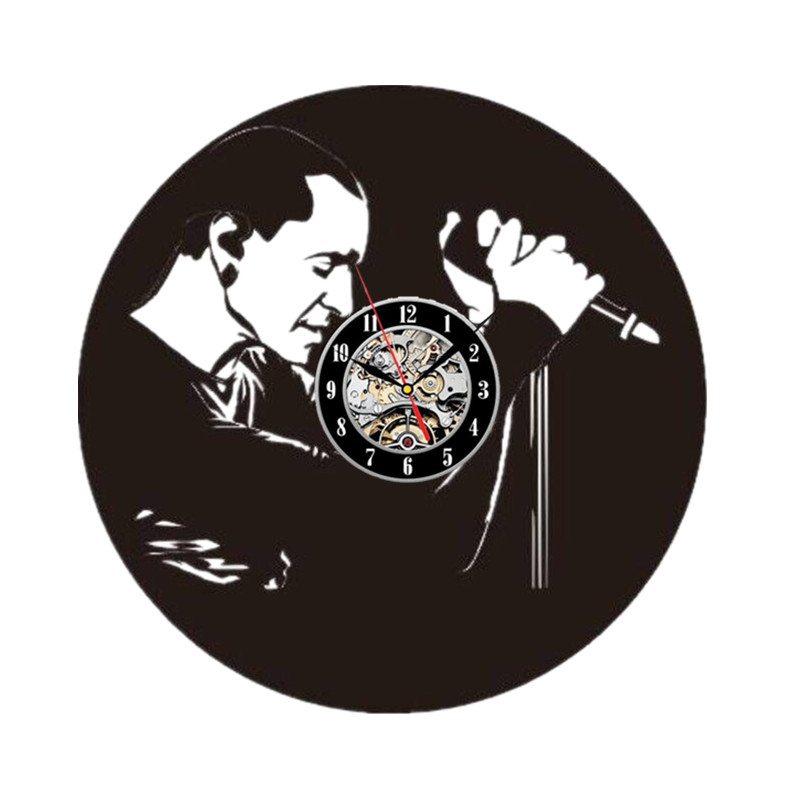 Us 18 49 57 Off Linkin Park Vinyl Record Wall Clock Get Unique Garage Wall Decor Gift Ideas For Boys And Girls Rock Unique Modern Art In Wall Clocks