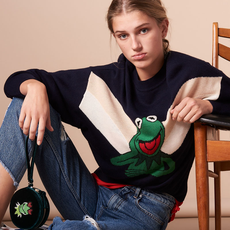 Women Cute Frog Loose Casual Sweater Autumn Winter Long Sleeve O Neck Pullover Female