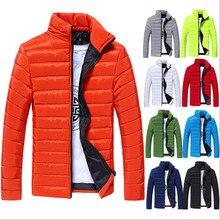 2016 Winter herren Warme Jacke Kleid Parka Günstige Daunenmantel Lässig Stehkragen Solide Mode Verdicken Mäntel Herren Jacken