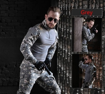 HAN WILD Mens Outdoor Hiking Shirt Military Clothing German Camouflage Uniform Combat Shirt Tactical Clothing for Hunting Males 5