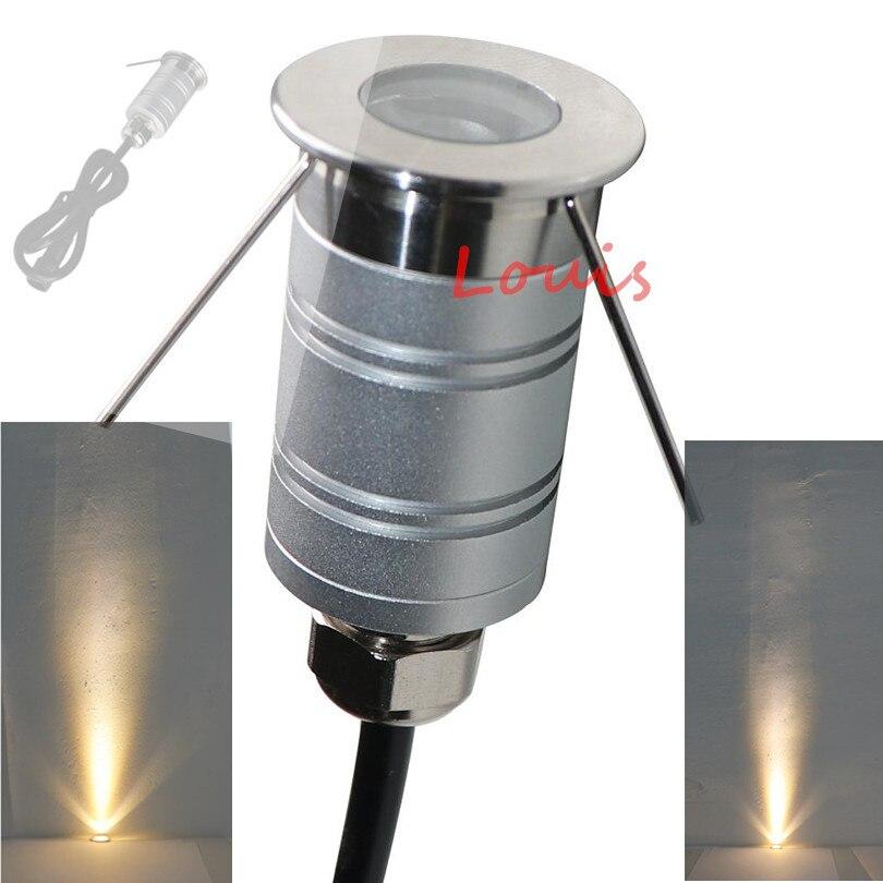 Free Shipping Mini LED Condensing Ground Light 1W DC12V 24V Landscape Lighting IP67 LED Buried Inground
