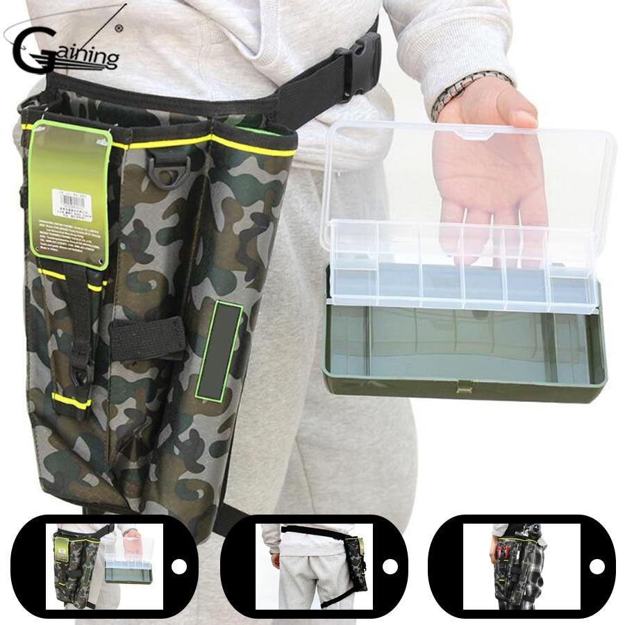 Multifunction Fishing Tackle Bag Lures Storage Bag Leg Bag Fishing Rod Case