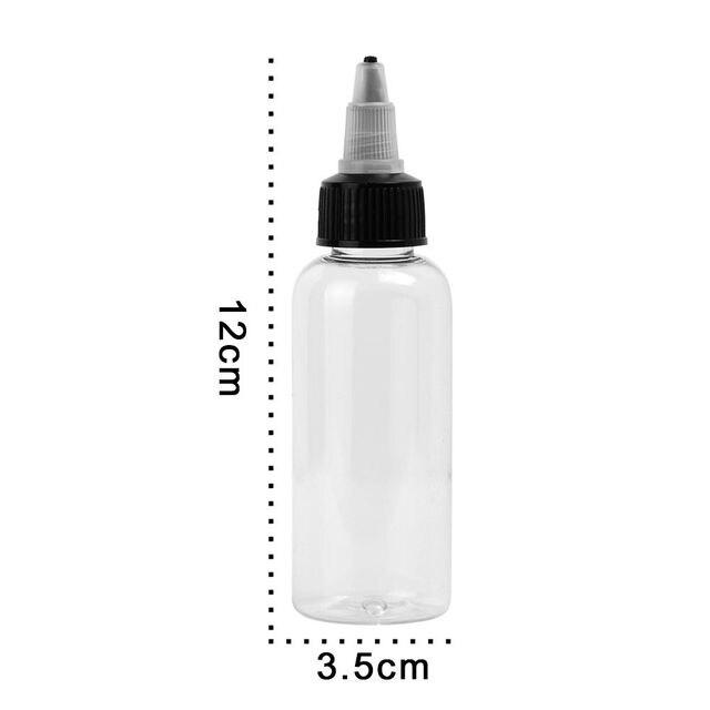 ATOMUS Novo 10 Pcs 60 ml 2 OZ Cleanlabs Vazio Plástico Garrafa Transparente Suprimentos Tatuagem Pigmento Da Tinta Do Tatuagem Pigmento Da Tinta garrafa Com Tampa