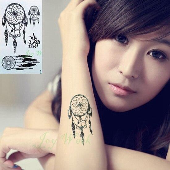 Waterproof Temporary Tattoo Sticker On Body Dreamcatcher Dream Catcher Tatto Stickers Flash Tatoo Fake Tattoos For Girl