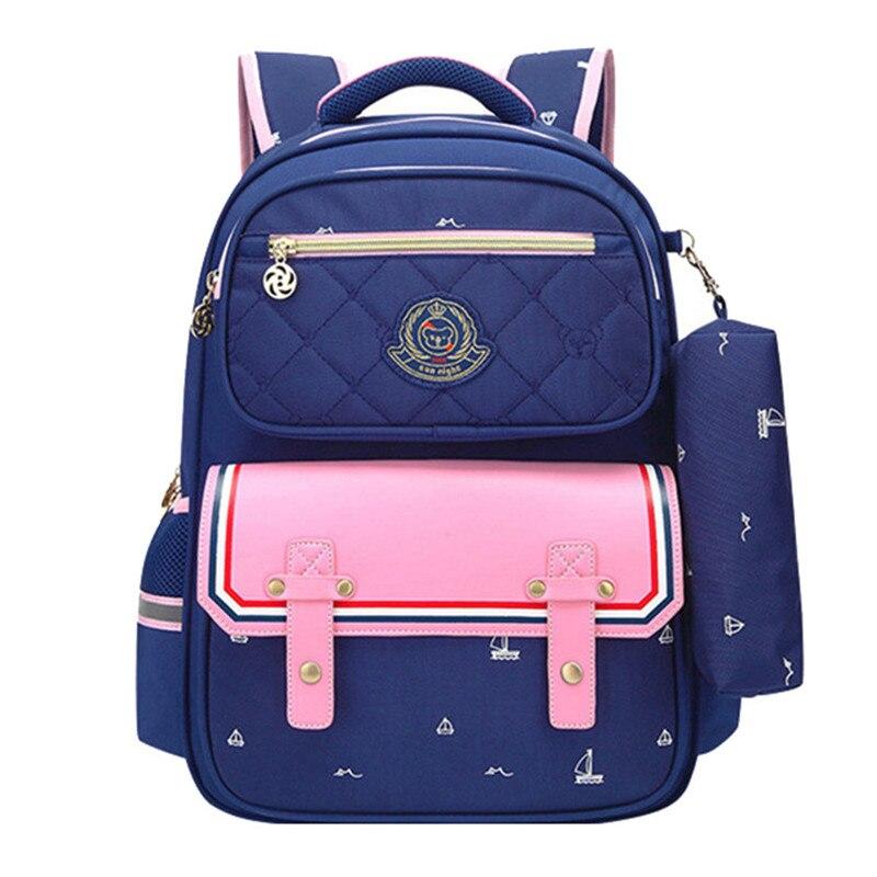 1abc9a461a7b Детские школьные сумки для девочек Начальная школа рюкзак ортопедическая  школьная сумка рюкзак детский Ранец bookbag mochila