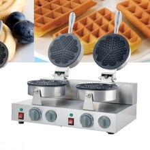 Double head stainless steel 110V/220V  5pcs  heart shaped electric waffle machine waffle maker iron machine