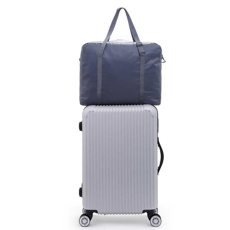Fim de semana Saco de viagem Embalagem Cubo da roda mala saco Bagagem de mão Organizador Saco de nylon Dobrável Grande Unisex Bagagem de Cabine
