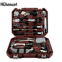 HGhomeart 64PCS Woodworking Tool Kit for Home Multitool Hand Electrician's Set Car Repair Tool Electric Tools for Electricians