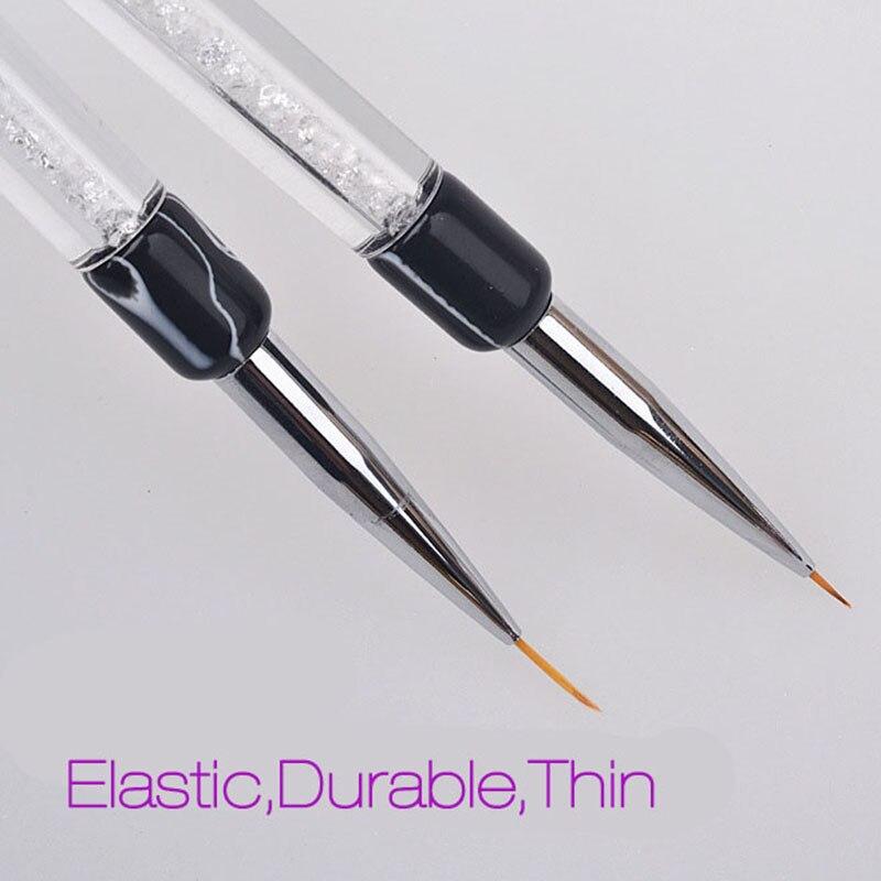 Nieuwe 1 stks nail brush 7 / 14mm crystal acryl nagels art borstels - Nagel kunst - Foto 3