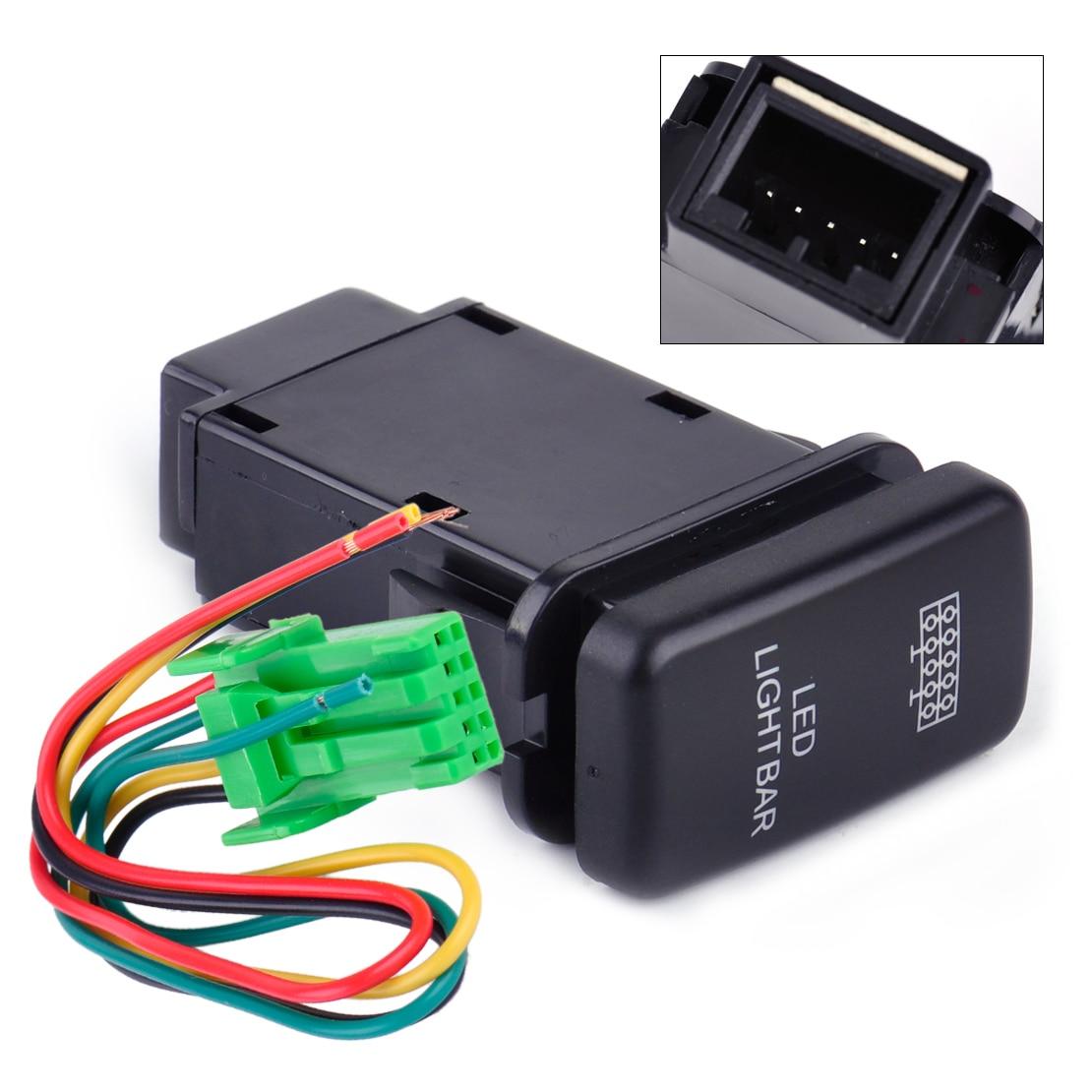 DWCX 12 V Auto ABS & Metall 5 Pin Blau Led-lichtleiste On-off ...