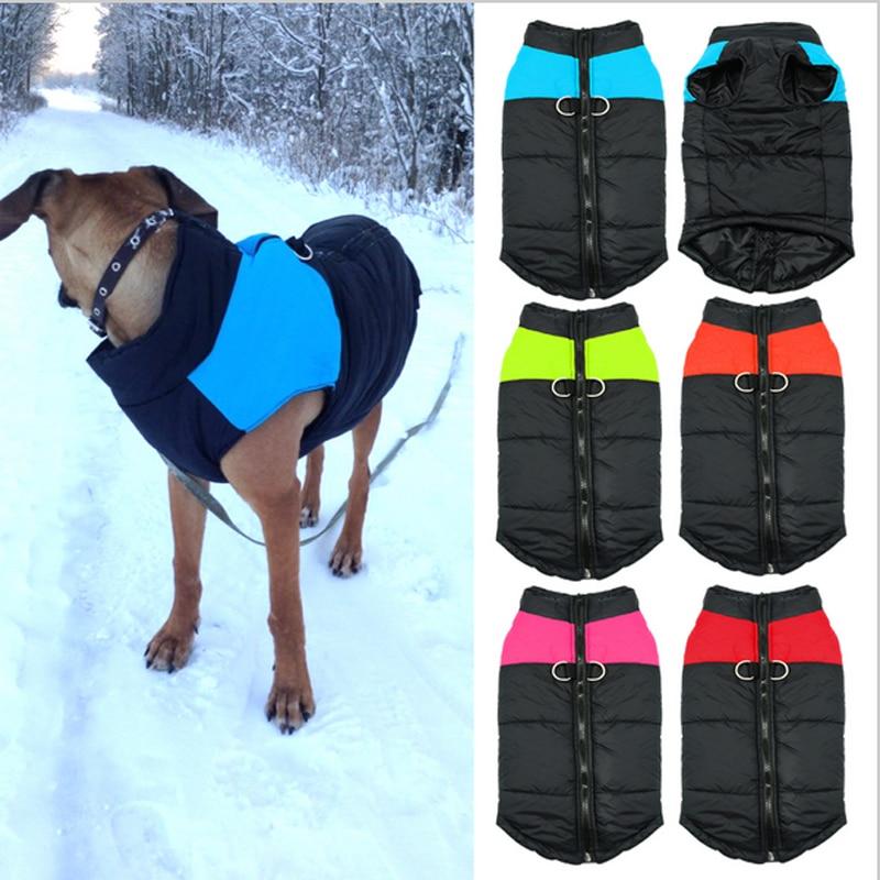 Winter Warm Pet Dog Clothes Fashion Pop Waterproof Winter Warm Padded Coat Pet Vest Jacket 8 Sizes steering wheel phone holder