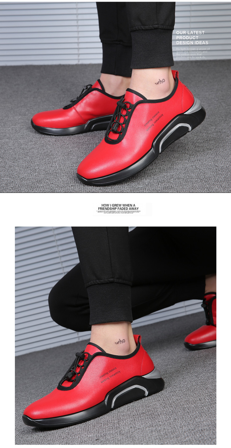 Spring Autumn Men Casual shoes Genuine leather Breathable Male Sneakers Lace-Up Flats Sport shoes zapatos de hombre 02A 14