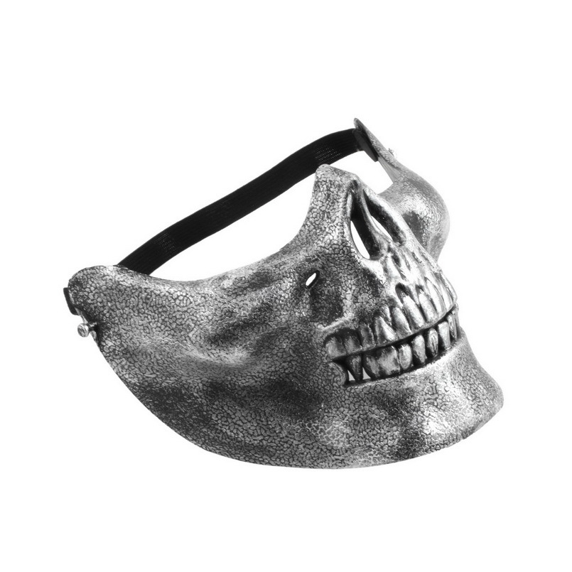 Skull Skeleton Airsoft Game Hunting Biker Half Face Protect Gear Mask Guard