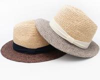10 unids Marca Los Hombres de Paja de la Rafia Sombrero de ala 61 cm de Gran Tamaño panamá Sombrero de Verano Beach Sun Cap Mujeres sombreros de Ala de la Paja de La Naturaleza venta al por mayor