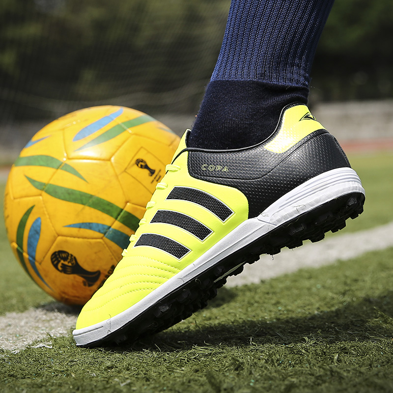 d3e2cb29c Indoor Soccer Shoes For Men Kids Turf Soccer Boots Copa TF Soccer Cleats  Boys Professional Football Shoes Rubber Sole -in Soccer Shoes from Sports  ...