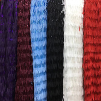 Free shipping (5yards/pc) High quality African sequins French net lace fabric with tassels 2019 newest for fashion dress FSQX01