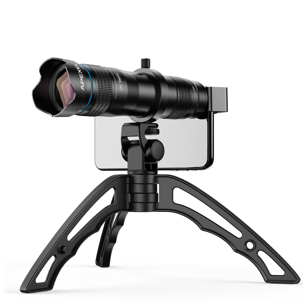 Opzionale HD 36X metallo telescopio teleobiettivo monoculare lente mobile + selfie treppiede per Samsung Huawei tutti Gli Smartphone Lente