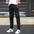 Men's Joggers Camouflage Trousers Beam Foot Slacks Elastic Draw String Drawstring Military Cargo Male Pants