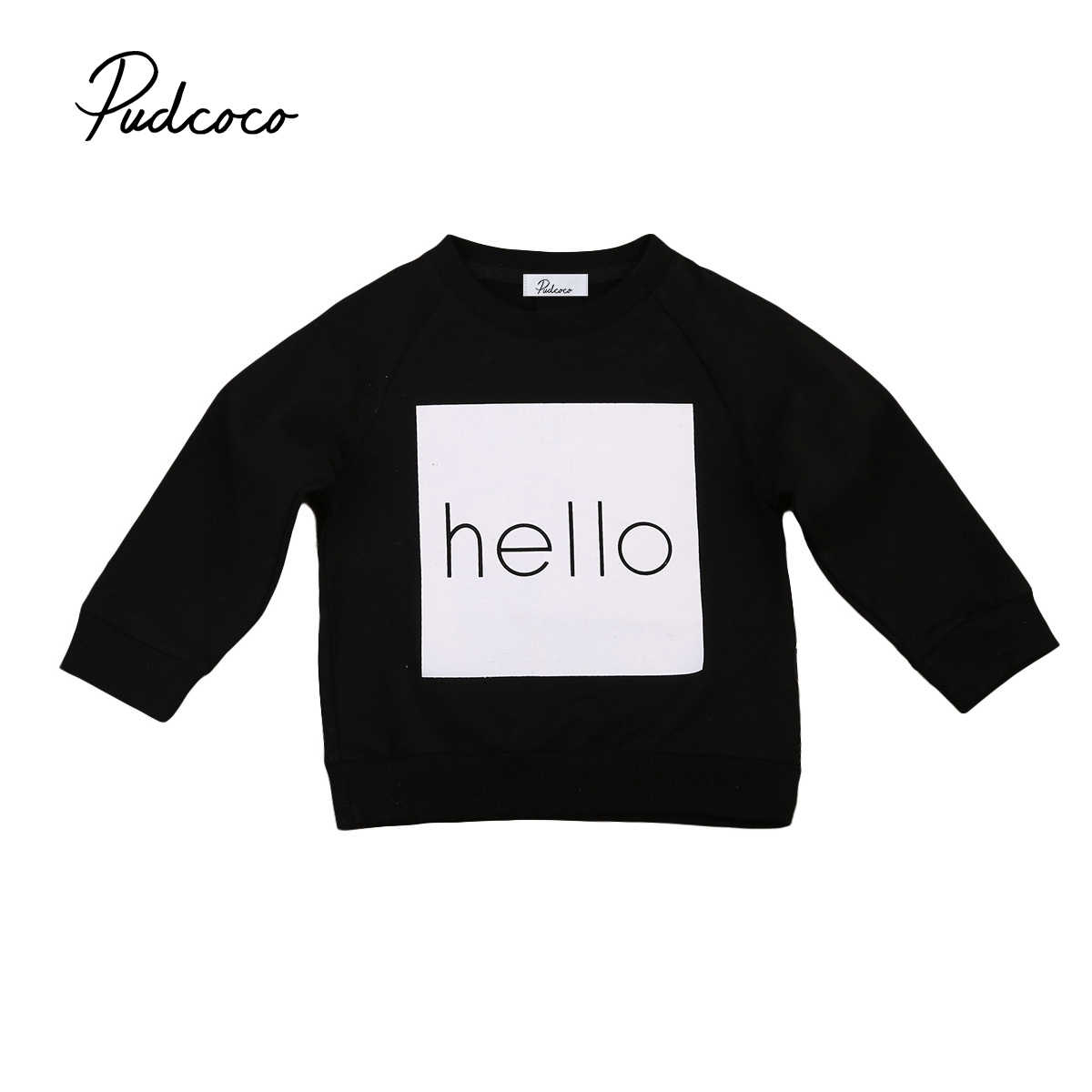 2017 New Brand Toddler Infant Kids Baby Boy Girl Jumpers Warm Sweatshirt Long Sleeve Tops Autum Clothes Casual Tops 1-6T