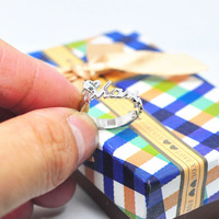 Personalized Nameplate Ring Solid Silver Crystal Couple Ring Custom Design Wedding Ring Memory Jewelry