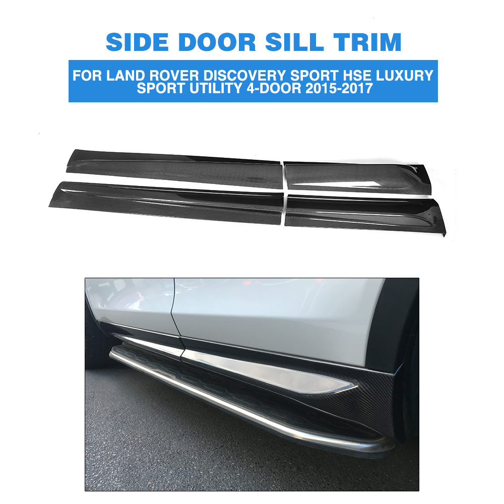 Carbon Fiber Door Side Sill Trims Nerf bar protection for Land Rover Discovery Sport HSE Luxury Sport Utility 4-Door 2015-2017