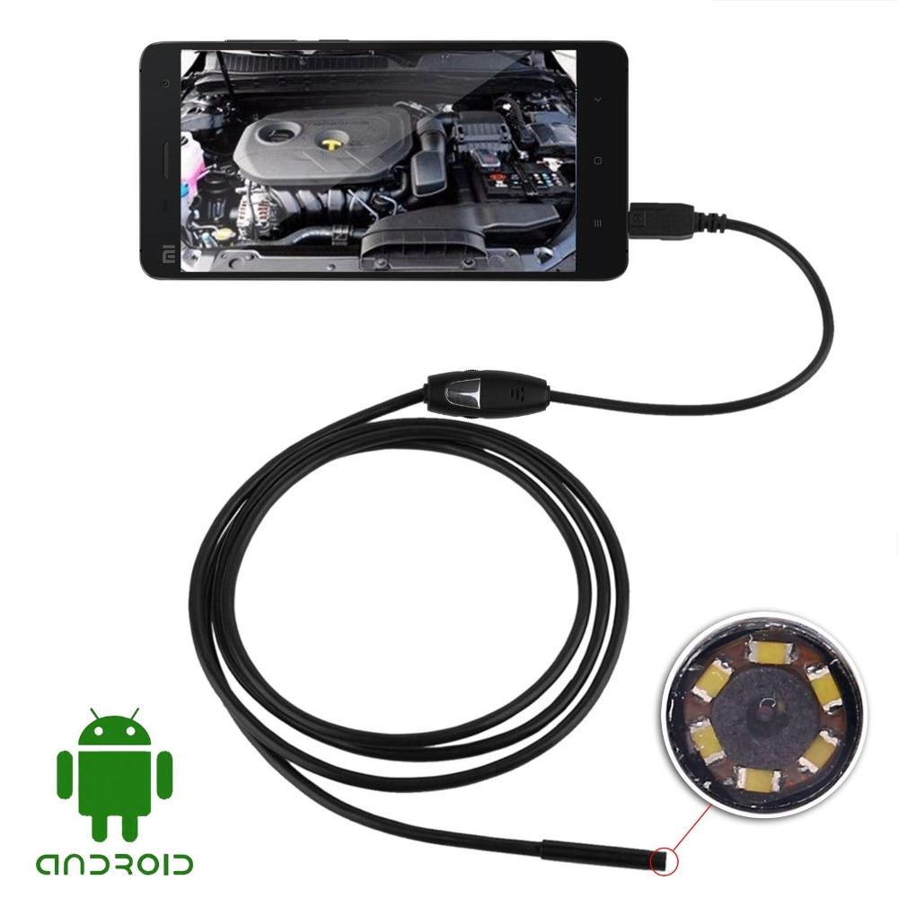 USB Digital  Android OTG Microscope Magnifier Endoscope Borescope 7mm 6 LED IP66 Waterproof Video Inspection  Camera headset bullet usb otg compatible android smartphones digital camera