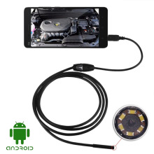USB Digital Android OTG Microscope Magnifier Endoscope Borescope 7mm 6 LED IP66 Waterproof Video Inspection Camera