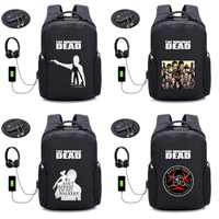 TV The Walking Dead backpack Anti-theft USB Charging Travel Laptop Backpack Teenager Men Waterproof School Bag Backpack 16 style