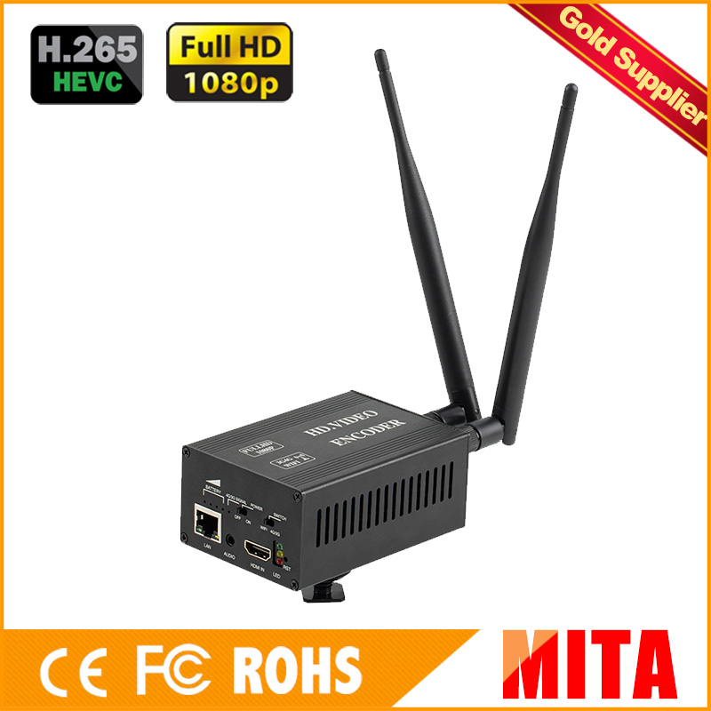 Full HD 1080 P H.265 HEVC ONVIF rtmp encodeur hdmi 4g pour la diffusion en direct vers les Codes Xtream du serveur multimédia VLC