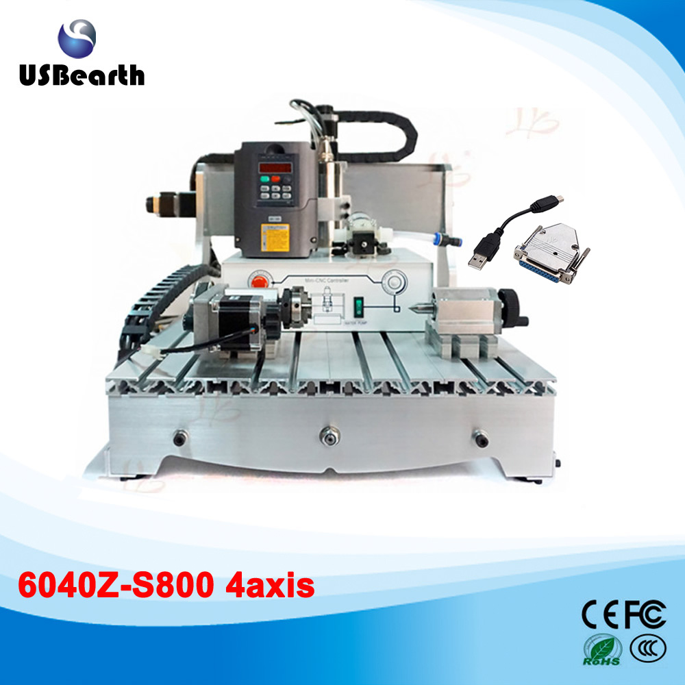 USB interface 4 Axis CNC 6040Z 800W wood metal cutting machine 110 220v 1500w 4 axis metal milling machine cnc 6040 with limit switch for metal wood cutting