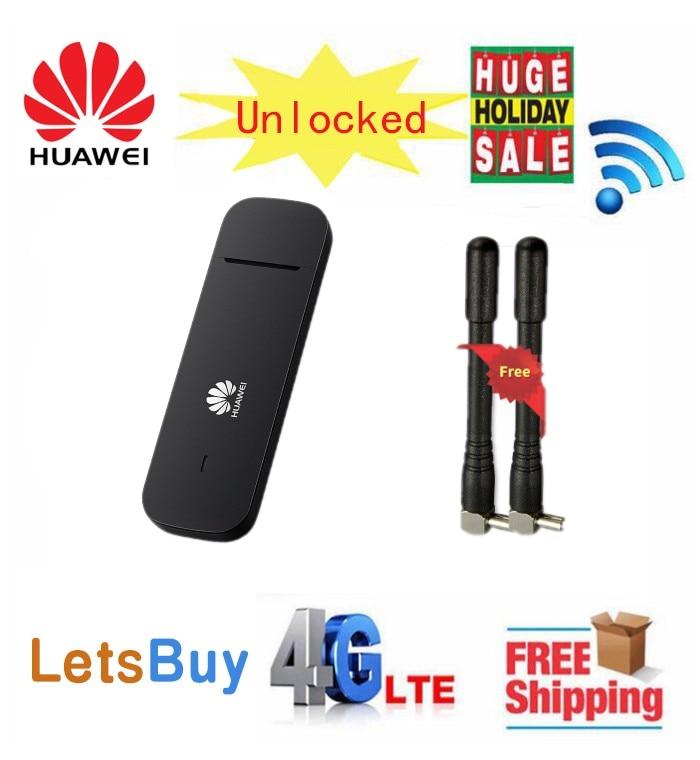 Débloqué Huawei E3372 E3372h-153 (plus une paire d'antenne) 4G LTE 150 Mbps Modem USB 4G LTE USB Dongle E3372s-153 pk e3276s