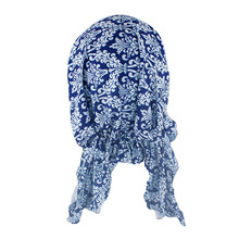 HLEISXI New Adult Women Floral Headwear Female Bandannas Autumn Fashion Hair Turban Floral  Accessories For Girl Bandages Sale