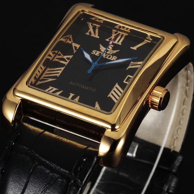 2016 nueva moda marca sewor classic militar skeleton reloj de pulsera mecánico automático de lujo de los hombres de negocios del deporte de hombres reloj