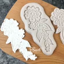 Double-sided Flowers Fondant Cake Chocolate Molds