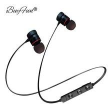 СПЦ In-Ear Bluetooth наушники Беспроводной наушники Спорт Музыка гарнитура для Apple IPhone Samsung Xiaomi Android Магнитная головной телефон