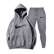 ee32c074e1721 Moda Nike Hoodie Kazak Erkek/Kadın 2018 Yeni Hoodies Sweatshirt + Eşofman  Altı Takım Elbise Sonbahar Kış Polar Kapüşonlu Kazak