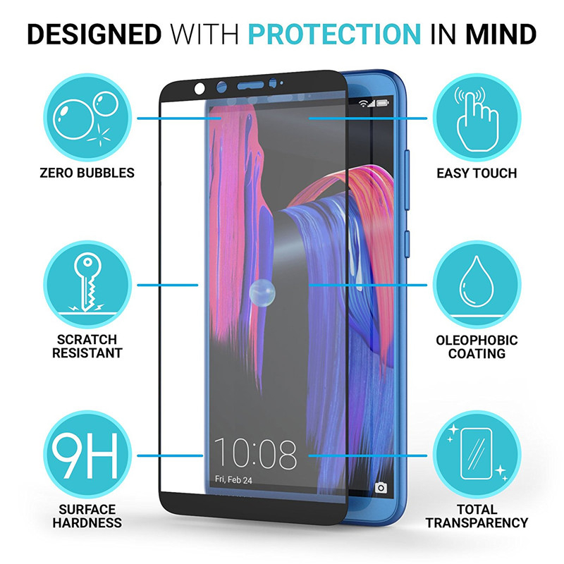 Image 2 - Honor 9 lite protective glass for honor 9 lite 9lite film tempered glass screen protector on honor 9lite 9 light safety glass-in Phone Screen Protectors from Cellphones & Telecommunications