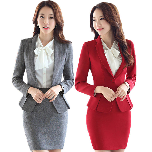 Fmasuth automne bureau formelle jupe costume complet for Office uniform design 2014