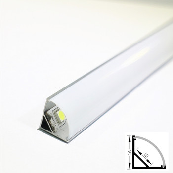 24PCS DHL  1m led strip aluminum profile for 10mm pcb 5050 5630 led strip housing aluminum channel with cover end cap and cli